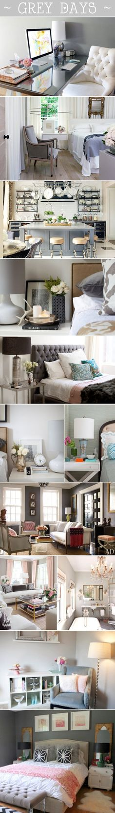 Grey colour palette throughout the home