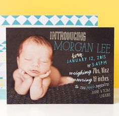 Introduce the little one into a world of wonder with personalized birth announcements. | Tiny Prints