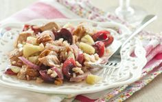 Brown Rice Salad with Cherries and Chicken... basil and cherries? YES, PLEASE!