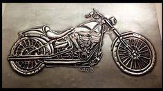 Pewter motorbike