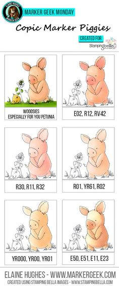 variety of colors for piggies... (could be skin tones, too!):