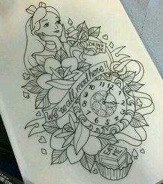 17 Unique Arm Tattoo Designs For Girls Alice in wonderland tattoo Arm Tattoos, Cute Tattoos, Body Art Tattoos, Sleeve Tattoos, Tattoos Pics, Tattos, Temporary Tattoos, Pin Up Tattoos, Tattoos Gallery