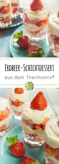 Strawberry and cream cheese dessert from the Thermomix Десерты Frozen Fruit Easy Cookie Recipes, Cookie Desserts, Fruit Recipes, Easy Desserts, Dessert Recipes, Frozen Yoghurt, Frozen Fruit, Desserts Thermomix, Cream Cheese Desserts