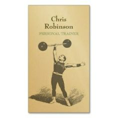 Nice vintage styled Business Card for Fitness or Personal Trainer. Have a look at all our business card templates designs here: http://www.cardsmadeeasy.com/fitness