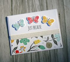 Dreamin' Big stamps and designer paper | Close To My Heart | CTMH cards | CAS card | butterfly stamps