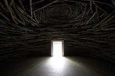 Andy Goldsworthy. Wood Room, 2007. Coppiced sweet chestnut, cropped from woodland in Kent. Photo: Jonty Wilde.