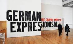 Title Wall, German Expressionism: The Graphic Impulse, MoMA, MoMA Department of Advertising and Graphic Design #SEGD