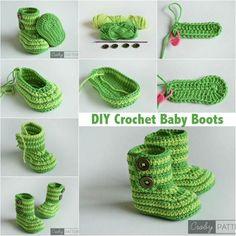 "diyncraftz: ""DIY Crochet Baby Boots Follow Us on Tumblr OR Like Us on Facebook """