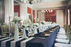 Photography: Ben Pigao - benpigao.com  Read More: http://www.stylemepretty.com/northwest-weddings/2014/03/31/classic-black-white-country-club-wedding/