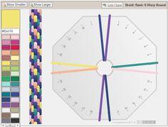 Kumihimo Braid Color Planning Tool