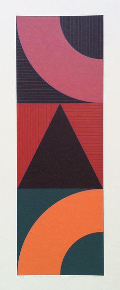 House, Gordon (1932-2004), 'Series 8 Vertical Tri Motif (A)', Screenprint, 1975-76. £650.00 - House, Gordon (1932-2004) Fine Art prints pain...