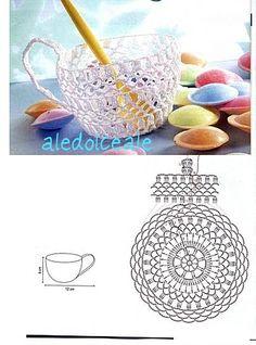 Crochet Vase, Crochet Motif, Crochet Crafts, Crochet Doilies, Free Crochet, Crochet Flower Patterns, Crochet Flowers, Farm Crafts, Diy Crafts