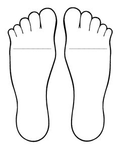 Feet template for Foot Book antonym activity (see prior post)