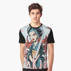 'Die Ninja' Grafik T-Shirt von caudas Loose Fit, Ninja, Vintage T-shirts, Designs, Comics, Mens Tops, T Shirt, Fashion, Round Collar Shirt