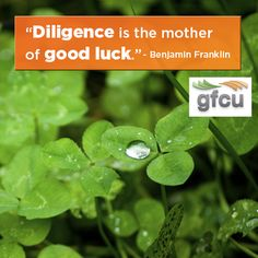 Diligence is the mother of good luck essay