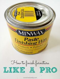 This gives the best finish to painted furniture! Click through for a great tutorial on how to paint furniture like a pro..