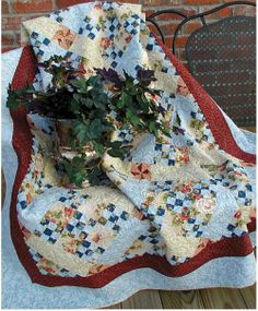 Ivory Spring: Thread Talk from my Sewing Machine #7 - Peaceful Garden Quilt