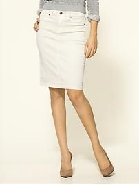 Blank Denim pencil skirt. Great basic piece for spring wardrobe.