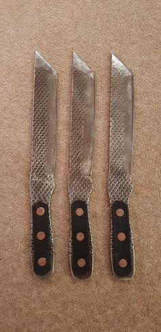 Farrier file knife Knife Throwing, Magnetic Knife Strip, Knife Block, Swords, Blade, Steel, Projects, Sword, Tile Projects