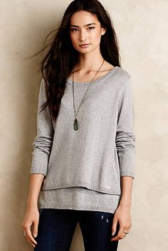 Shimmerstripe Layered Pullover