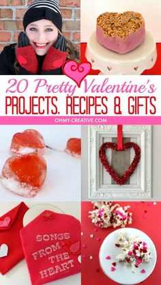 20 Pretty Valentine's Projects, Recipes and Gifts including card ideas  |  http://OHMY-CREATIVE.COM
