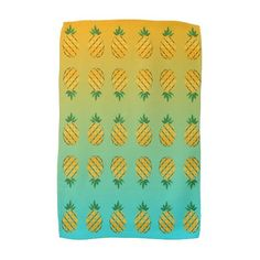 Tropical Summer Pineapple Kitchen Towel ($16) ❤ liked on Polyvore featuring home, kitchen & dining and kitchen linens