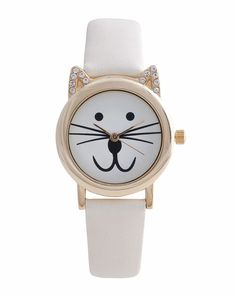 Cream Cat Watch - Jasmine would like this!!