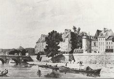 quai des Orfèvres - Paris 1er, Le quai des Orfèvres au temps de Vidocq, vers 1810.