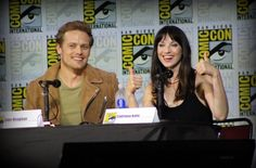 Sam Heughan and Caitriona Balfe at SDCC2017 for Outlander on Starz