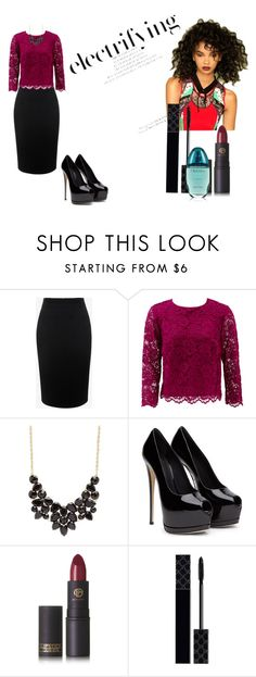 """""""electrifying"""" by mmmescher on Polyvore featuring Alexander McQueen, Nicole Miller, Charlotte Russe, Lipstick Queen, Gucci and Calvin Klein"""