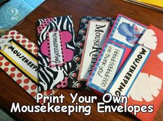 Need to print Mousekeeping Envelopes for your Disney Florida Trip? Here are my favorites
