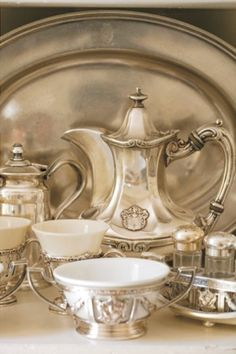 Silver Tea Set, very pretty...