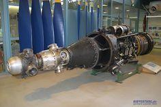 Um motor NK-12 em um museu na Finlândia - Kuznetsov NK-12: o mais poderoso motor turboélice da história