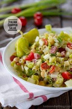Flavorful and hearty, this Italian Chopped Salad has all of the great flavors of Italy in one huge salad! This salad is great as a main dish or side!