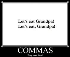 please use commas.