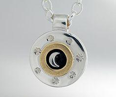 LOVE this beautiful pendant by Irish jewellery designer, Alan Ardiff... Sun, Moon & Stars