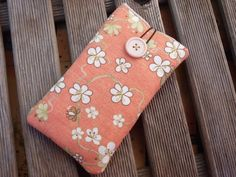 Floral iPhone 7 case, Protective iPhone 6 sleeve, Fabric case iPhone SE sleeve , iPhone 7 Plus Case, iPhone 5 cover, Cell phone pouch by DriSewing on Etsy