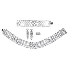 Important and Rare Cartier Paris Diamond Parure  | From a unique collection of vintage more necklaces at http://www.1stdibs.com/necklaces/more-necklaces/