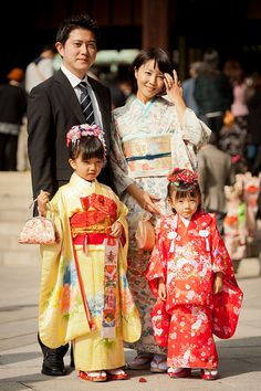 Shichi Go San - 7 5 3 . Everyone gets a new outfit for the Shinto Temple outing!