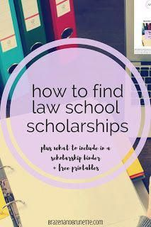 If you're concerned about law school student loans, law school debt, or how to pay for law school, I'm here to help! Here's 4 different places to look for to find a law school scholarship. Even if you don't have the highest GPA or LSAT score, you can still find a scholarship for law school! I have information on scholarships from law schools, local Bar association scholarships, ABA scholarships, and a scholarship match service. Plus, I have three free scho