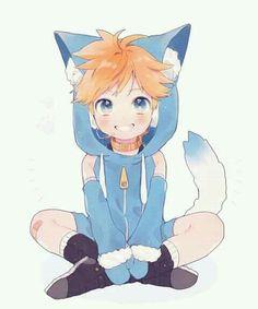 Len Y Rin, Kagamine Rin And Len, Anime Neko, Anime Guys, Kitten Drawing, Neko Boy, Pokemon, Drawing Templates, Naruto Cute