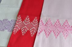 swedish huck weaving by the little red hen -, via Flickr