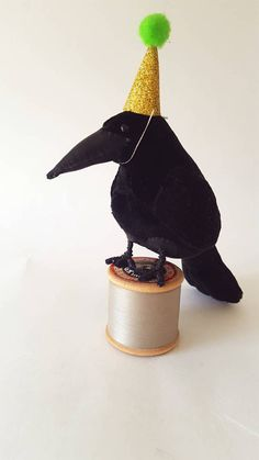 Check out this item in my Etsy shop https://www.etsy.com/uk/listing/538923687/party-crow-soft-sculpture