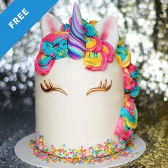 Skill level: Newb Unicorn cakes are huge right now and Liz Marek tackles her own unique take on this trend. This unicorn cake features a rounded top, a clean white ganache covering, a candy cane unicorn horn and a bright, delicious buttercream mane.
