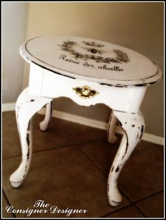 Great tutorial on transferring graphics onto a furniture by The Consigner Designer