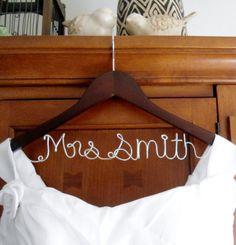 Hanger one Line, personalized Custom Bridal Hanger, Brides Hanger, Name Hanger, Wedding Hanger, Wedding Dress Hanger, Bridal Shower Gift