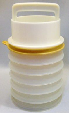 Tupperware Hamburger Press Storage Containers Set of 6 etsy other