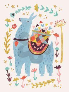 Resultado de imagem para llama illustration