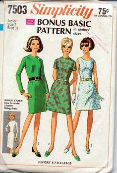 simplicity 7503 vintage pattern