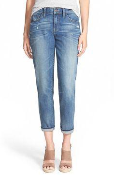 Women's Treasure & Bond Crop Boyfriend Jeans (Cross Medium Worn)